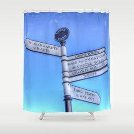 Edinburgh Castle Directions Post Shower Curtain