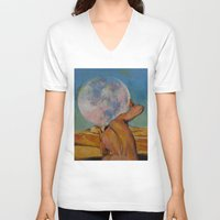 atlas V-neck T-shirts featuring Atlas by Michael Creese