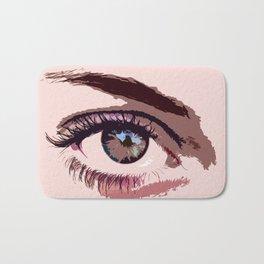 In a women's Eye Bath Mat