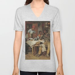 A Pastoral Visit, by Richard Norris Brooke, 1881, An African American family Unisex V-Neck