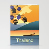 thailand Stationery Cards featuring Thailand by Shirong Gao