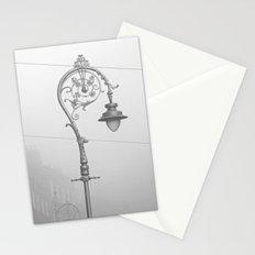 Dublin street lamp in the fog Stationery Cards