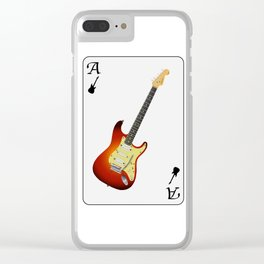Guitar Ace Playing Card Clear iPhone Case