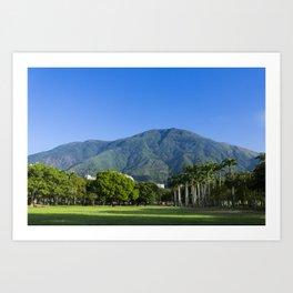 El Ávila desde Parque del Este Art Print