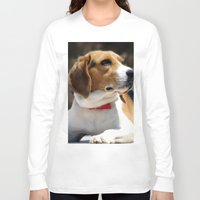 beagle Long Sleeve T-shirts featuring Beagle by Artistically Home