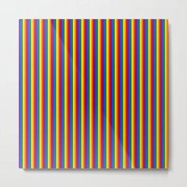Vertical Gay Pride Rainbow Flag Pin Stripes Metal Print