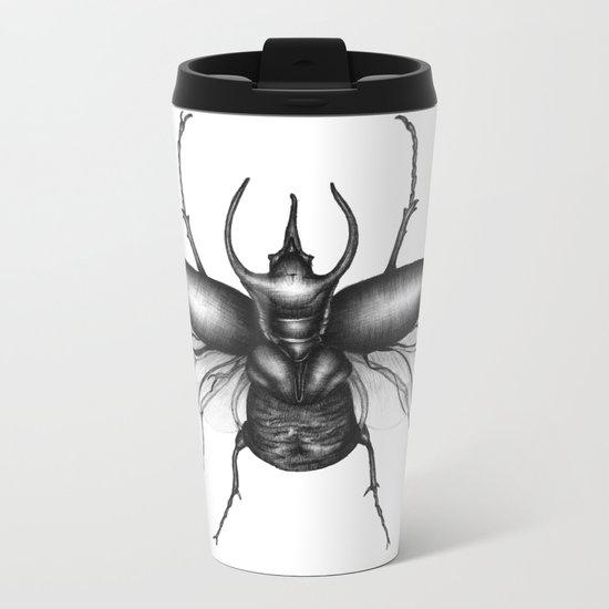Beetle Wings Metal Travel Mug