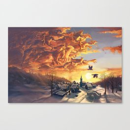 The wild hunt Canvas Print