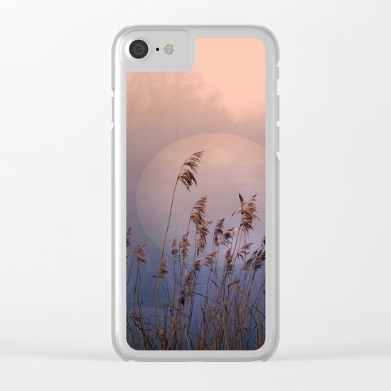 Lake with heart Clear iPhone Case