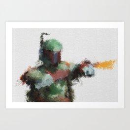 Bounty Hunter: Boba Fett Art Print