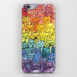 the pride cat rainbow  squad iPhone Skin