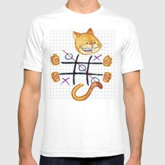 Tic Cat Toe SMALL White Mens Fitted Tee