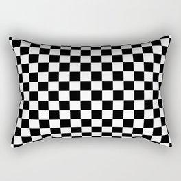 Black Checkerboard Pattern Rectangular Pillow
