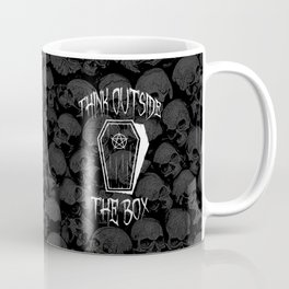 Think Outside The Box Goth Coffin Humour Coffee Mug