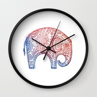 elephants Wall Clocks featuring Elephants by Alibabaform