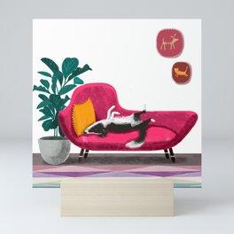 Sleeping pup Mini Art Print