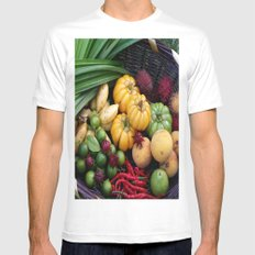 BASKET OF LOVE Mens Fitted Tee White MEDIUM