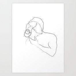 Lovers - Minimal Line Drawing 13 Art Print