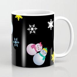 Snowflakes & Pair Snowman_E Coffee Mug