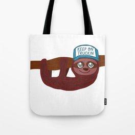 keep on truckin sloth Tote Bag