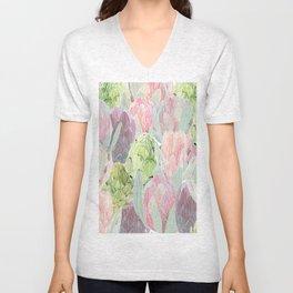 Protea and artichokes Unisex V-Neck