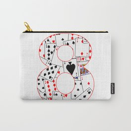 Number Eight Cards Carry-All Pouch