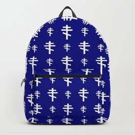 orthodox or russian cross 4 Backpack