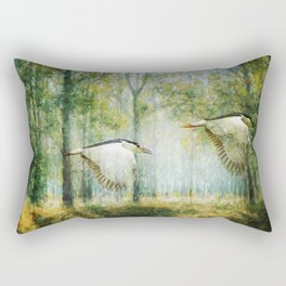 Magical Forests Impressionism Rectangular Pillow