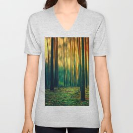 Green Forest Unisex V-Neck