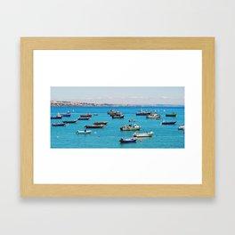 Harbor in Cascais Framed Art Print