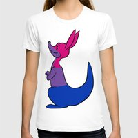 bisexual T-shirts featuring Bisexual Kangaroo by alashby