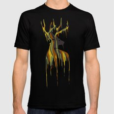 Painted Stag Mens Fitted Tee Black LARGE