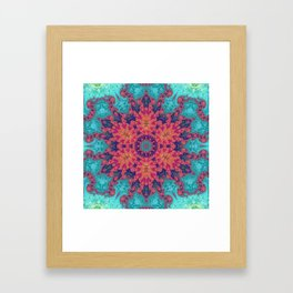 Rainbow Fractal Kaleidoscope Framed Art Print