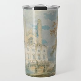 "J.M.W. Turner ""Clare Hall and King's College Chapel, Cambridge, from the Banks of the River Cam"" Travel Mug"