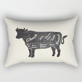 Beef Butcher Diagram Rectangular Pillow