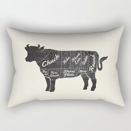 Beef Butcher Diagram Rectangular Pillow