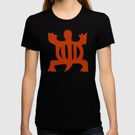 "Denkyem ""Crocodile"" | African Symbol of adaptability in African Orange T-shirt"