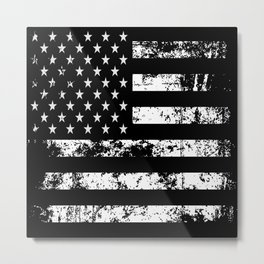 United States of America Black Flag Metal Print