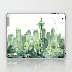 Seattle Watercolor Painting Laptop & iPad Skin