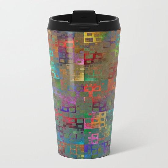 Geometrical Pattern 3 Metal Travel Mug