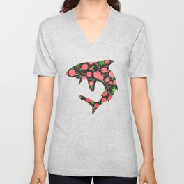 Floral Shark Unisex V-Neck