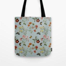 BOTANICAL FLOWERS TURQUESA Tote Bag