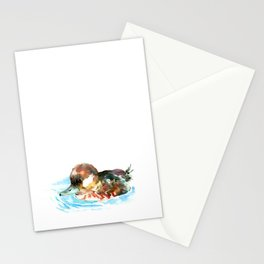 Duck, Bufflehead Duck baby Wild Duck Stationery Cards
