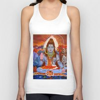 shiva Tank Tops featuring Shiva by Antonimo-discipulosinmaestro
