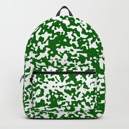 Small Spots - White and Dark Green Backpack