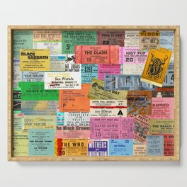 I miss concerts - ticket stubs Serving Tray
