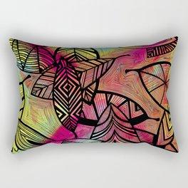 Crazy Leaves  Rectangular Pillow