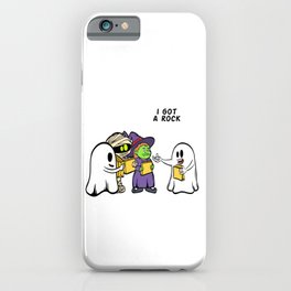 """Happy Halloween Shirt For October November Mummy Witch """"I Got A Rock"""" T-shirt Design Creepy Spooky iPhone Case"""