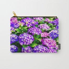 Elegant Purple & Lavender Hydrangea Carry-All Pouch