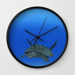 Peaceful Sea Turtle Wall Clock